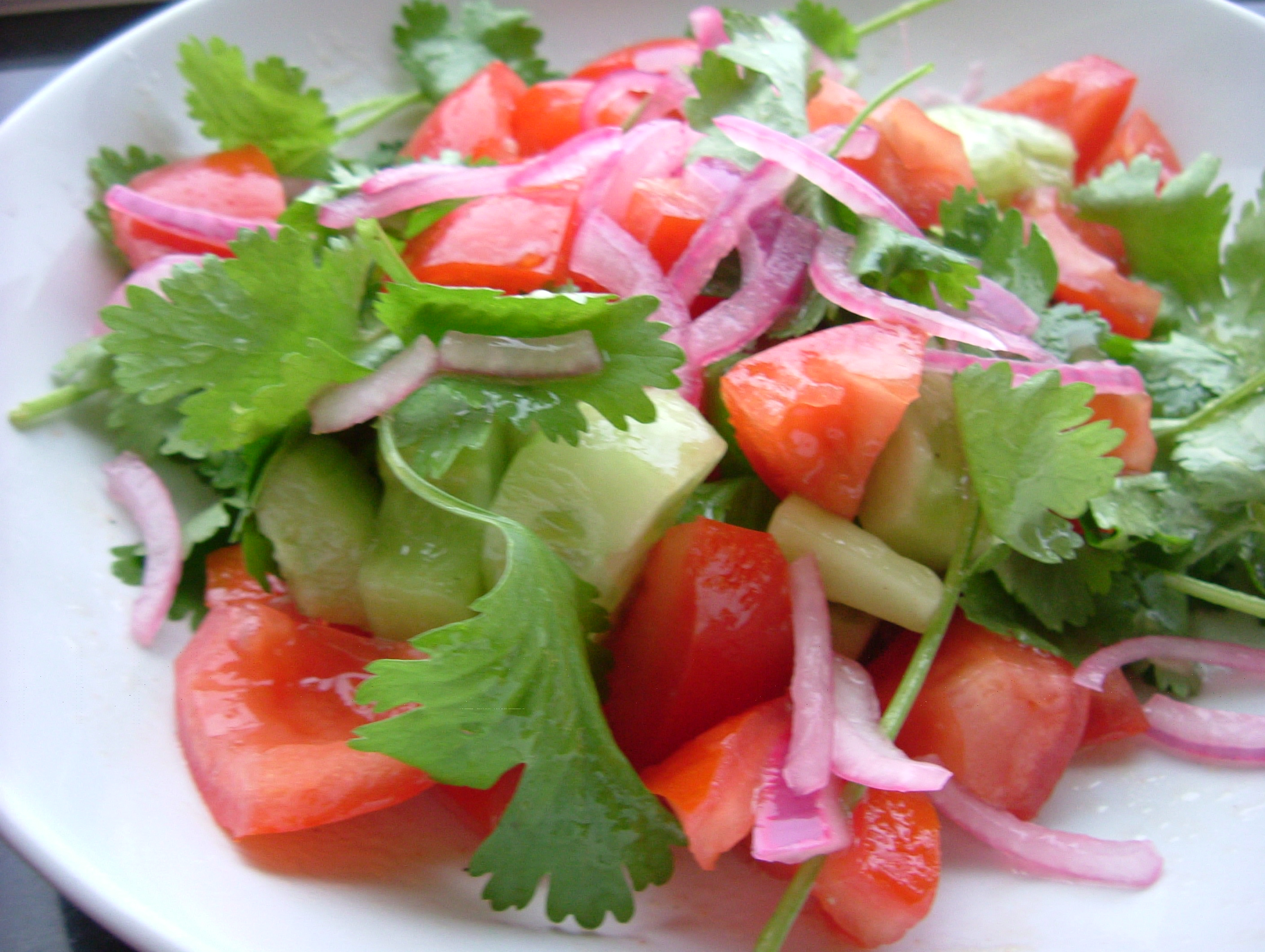 Tomato, Cucumber, Purslane Salad Recipe — Dishmaps