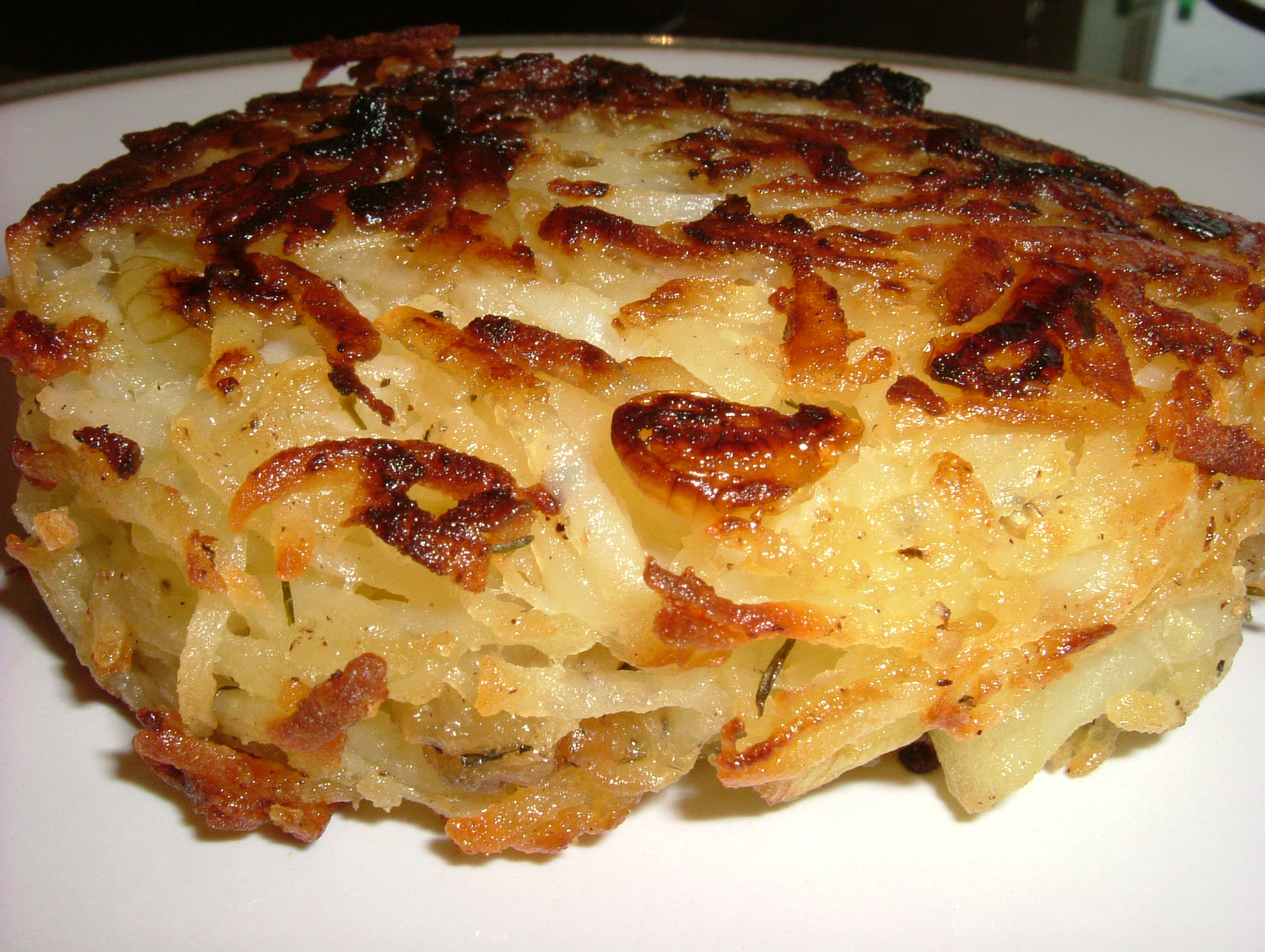with bacon and scallions crispy potato onion and mushroom rosti rosti ...